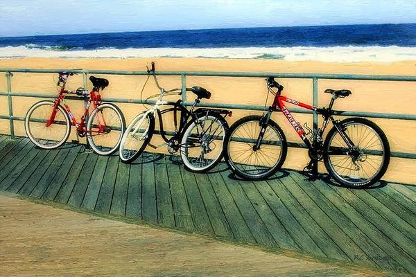 Painting - Boardwalk Bikes by RC DeWinter