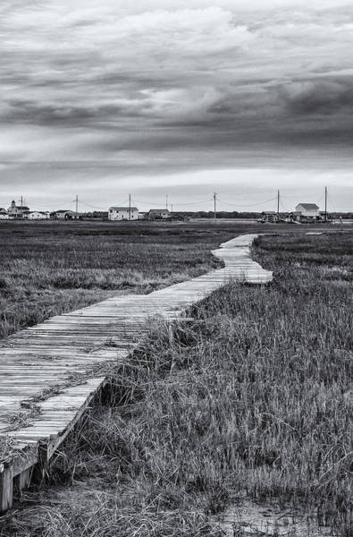 Photograph - Boardwalk In Black And White by Tom Singleton