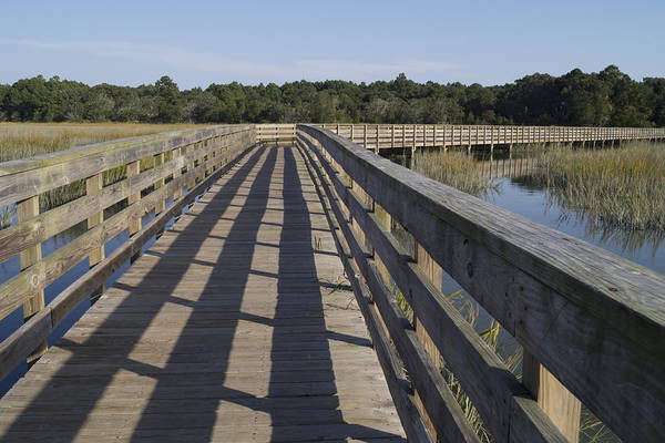 Photograph - Boardwalk Over The Salt Marsh by MM Anderson