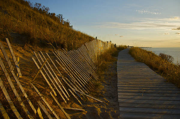 Photograph - Boardwalk Overlook At Sunset by Owen Weber