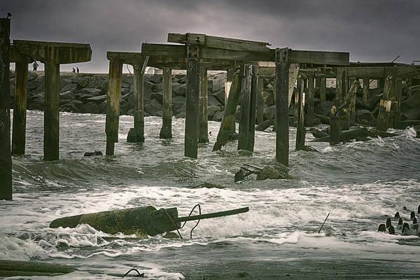 Photograph - Boardwalk Remnants by Joan Carroll