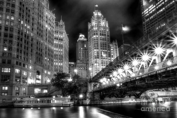 Wall Art - Photograph - Boat Along The Chicago River by Margie Hurwich