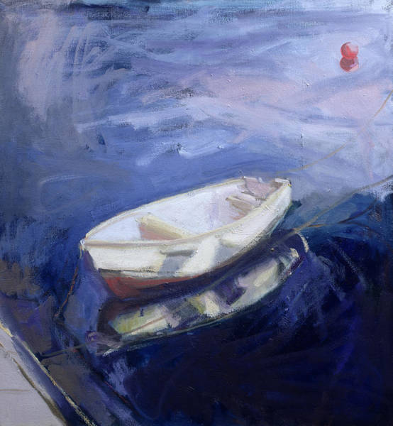 Small Boat Wall Art - Painting - Boat And Buoy by Sue Jamieson