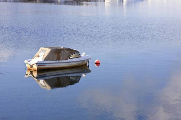 Photograph - Boat At Anchor by Susan Leonard