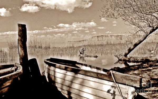 Photograph - Boat At Lake Balaton by Alexa Szlavics