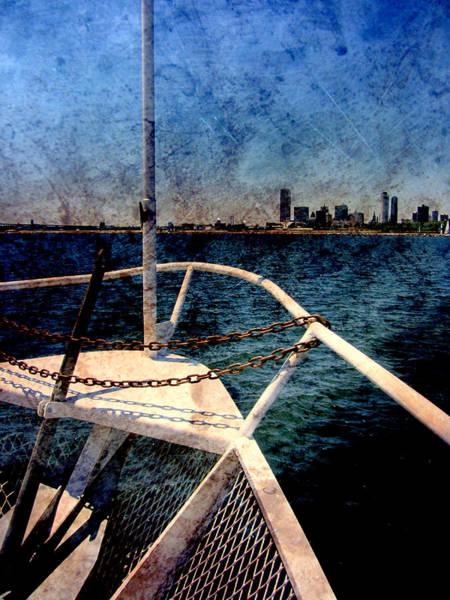 Digital Art - Boat Bow W Metal by Anita Burgermeister