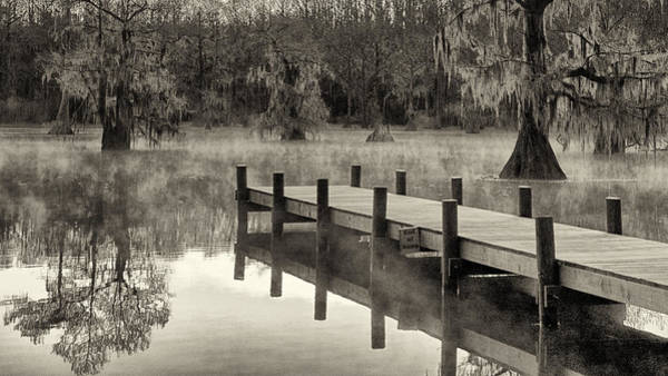 Photograph - Boat Dock Caddo Lake by Mary Lee Dereske