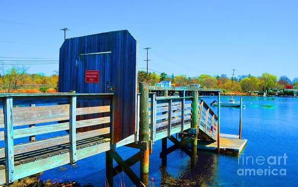 Photograph - Boat Dock In Rhode Island by Christopher Shellhammer