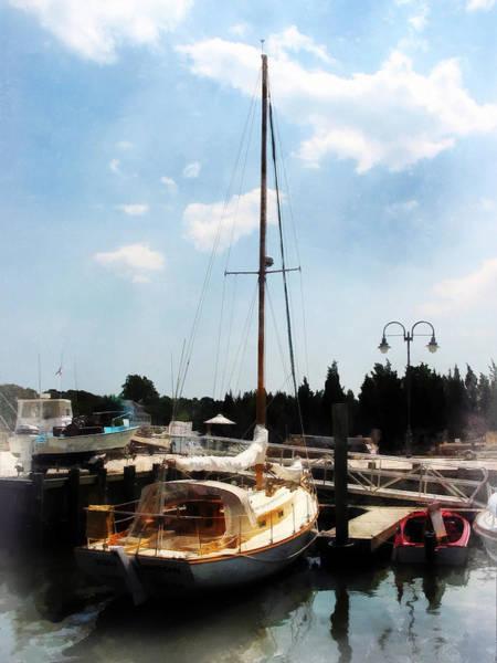 Photograph - Boat - Docked Cabin Cruiser by Susan Savad