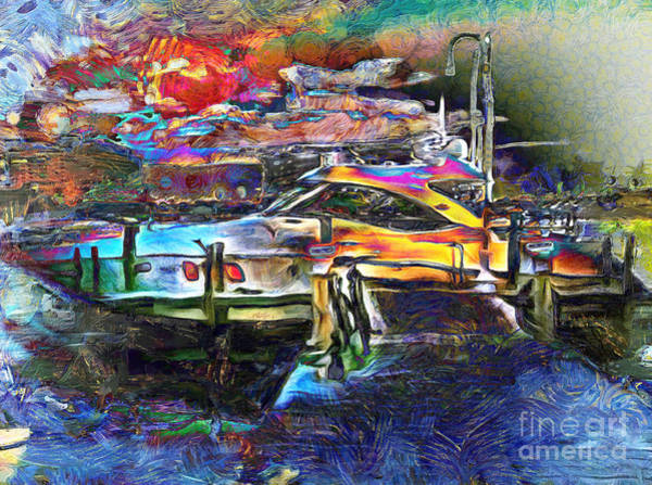 Mixed Media - Boat Dreams by Claire Bull