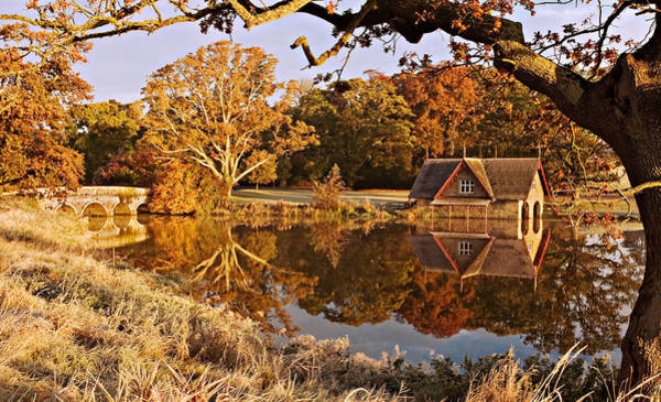 Maynooth Photograph - Boat House In The Morning Light - Ireland by Barry O Carroll