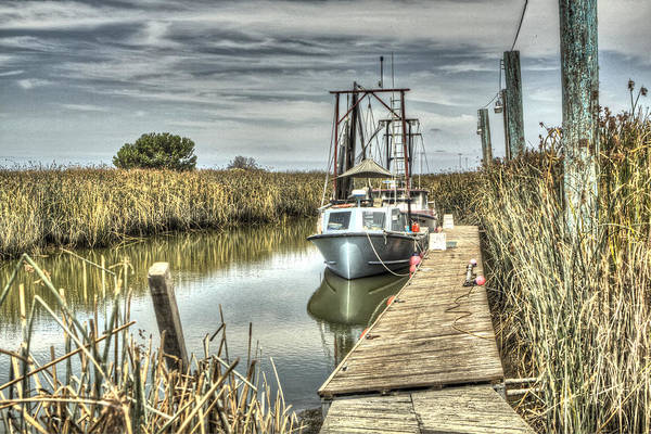 Alviso Photograph - Boat In The Marsh 3 by SC Heffner