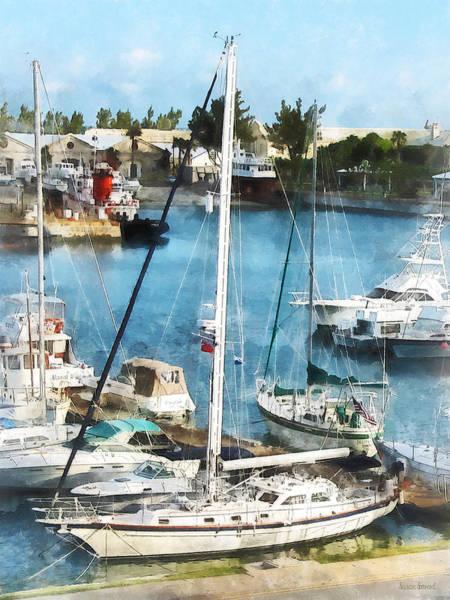 Photograph - Boat - King's Wharf Bermuda by Susan Savad