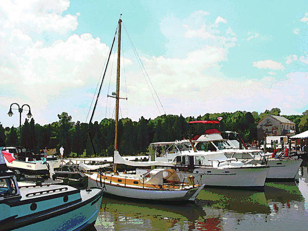 Photograph - Boat - Line Of Docked Boats by Susan Savad