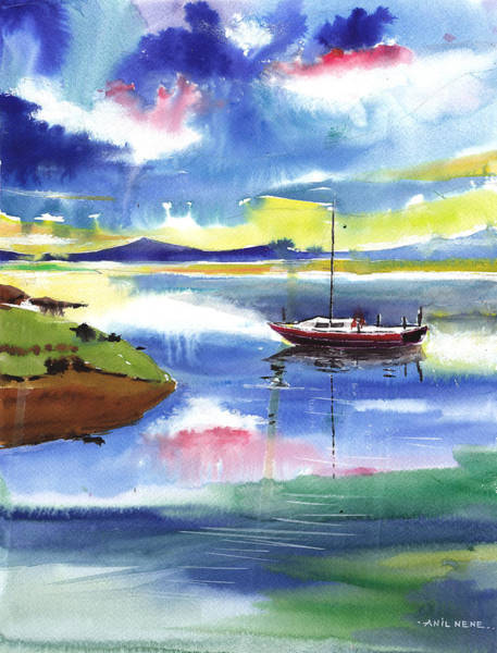 Painting - Boat N Colors by Anil Nene