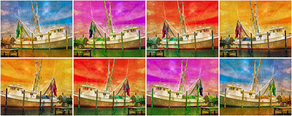 Shrimp Digital Art - Boat Of A Different Color by Betsy Knapp