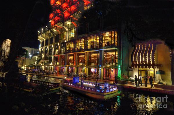 Photograph - Boat On Canal Riverwalk San Antonio by Dan Friend