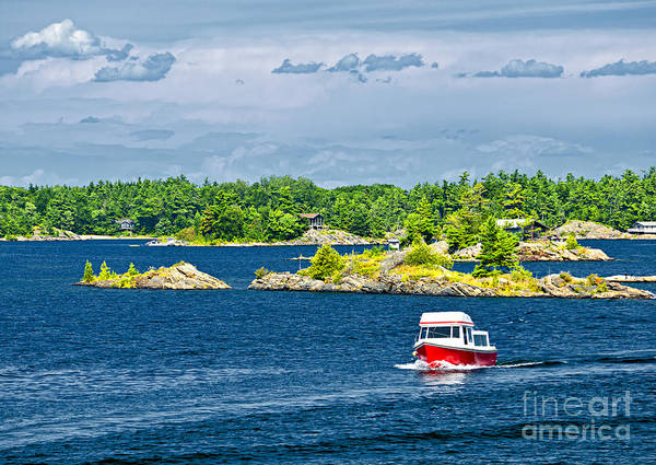 Photograph - Boat On Georgian Bay by Elena Elisseeva