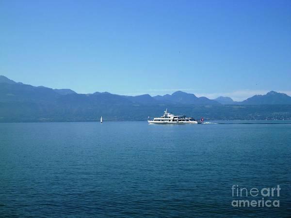 Boat On Leman Lake - Swiss Art Print
