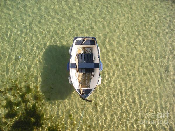 Pixel Photograph - Boat On Ocean by Pixel Chimp