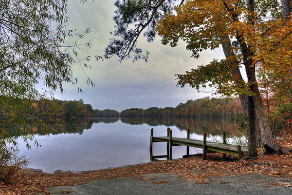 Photograph - Boat Ramp And Pier At Reservoir by Jerry Gammon