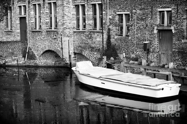 Wall Art - Photograph - Boat Reflection In Bruges by John Rizzuto