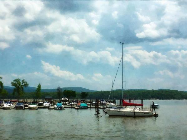 Photograph - Boat - Sailboat At Dock Cold Springs Ny by Susan Savad