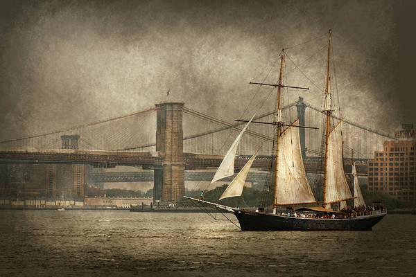 Photograph - Boat - Sailing - Govenors Island Ny - Clipper City by Mike Savad