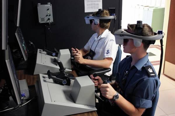 Cadets Wall Art - Photograph - Boat Simulator Consoles by Us Air Force/bob Krekorian