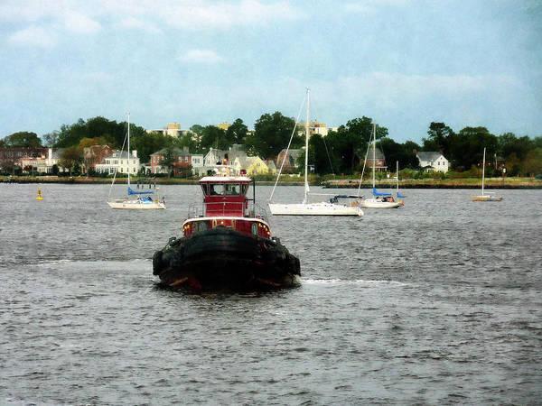 Photograph - Boat - Tugboat Bow Norfolk Va by Susan Savad