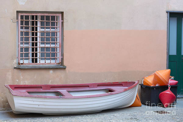 Sestri Levante Photograph - Boat Under A Window by Mats Silvan