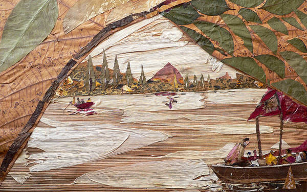 River Scene Mixed Media - Boat View From Boat by Basant Soni