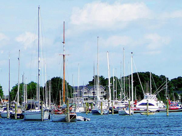 Photograph - Boat - Village Dock At Wickford Ri by Susan Savad