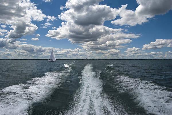 Wall Art - Photograph - Boat Wake 01 by Thomas Woolworth