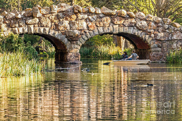 Photograph - Boaters Under The Bridge by Kate Brown