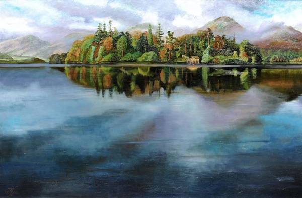 Lakeside Wall Art - Photograph - Boathouse, Derwentwater, Cumbria, 2008 Oil On Canvas by Trevor Neal