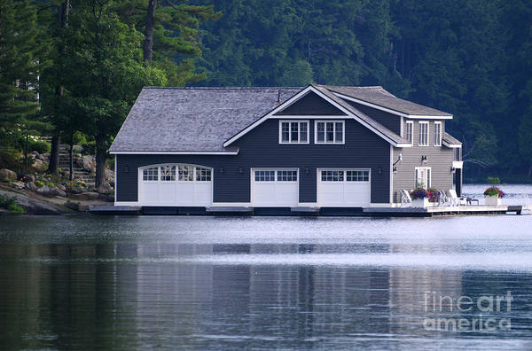 Photograph - Boathouse by Les Palenik