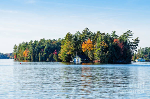 Photograph - Boathouse On An Island by Les Palenik