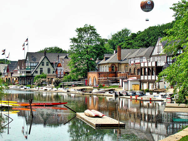 Photograph - Boathouse Reflections by Alice Gipson