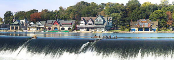 Cormorant Photograph - Boathouse Row At The Waterfront by Panoramic Images