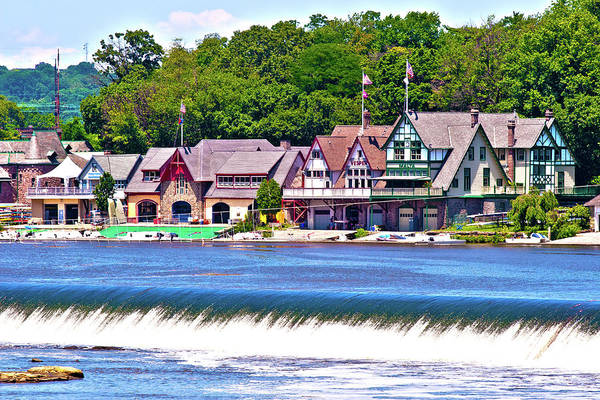 Racing Shell Photograph - Boathouse Row - Hdr by Lou Ford