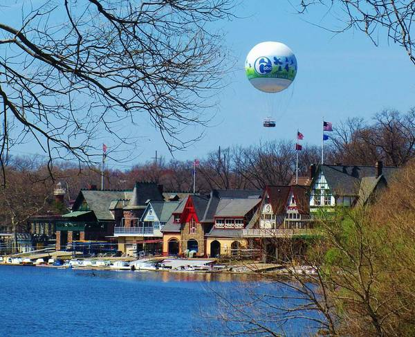 Racing Shell Photograph - Boathouse Row In Philadelphia by Jeannie Allerton