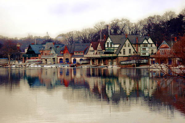 Navy Photograph - Boathouse Row Philadelphia by Tom Gari Gallery-Three-Photography