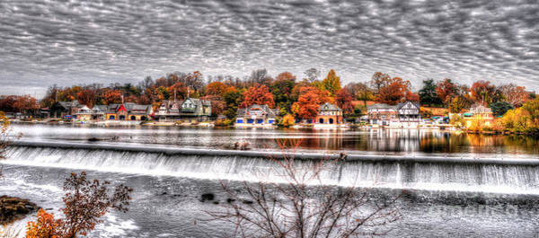 Dragon Boats Wall Art - Photograph - Boathouse Row Under The Clouds by Mark Ayzenberg