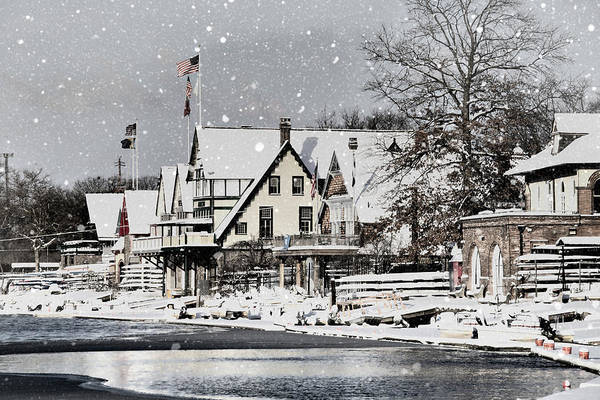 Photograph - Boathouse Snow by Alice Gipson