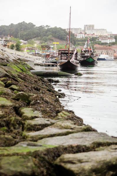 Douro Wall Art - Photograph - Boats Along Rocky Shore by Megan Ahrens