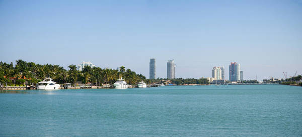 Dade Photograph - Boats And Modern Buildings by Panoramic Images