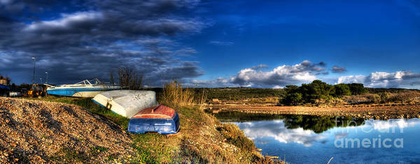 Losinj Photograph - Boats And Panorama by Sinisa Botas