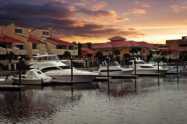 Photograph - Boats And Sunset by Anthony Dezenzio