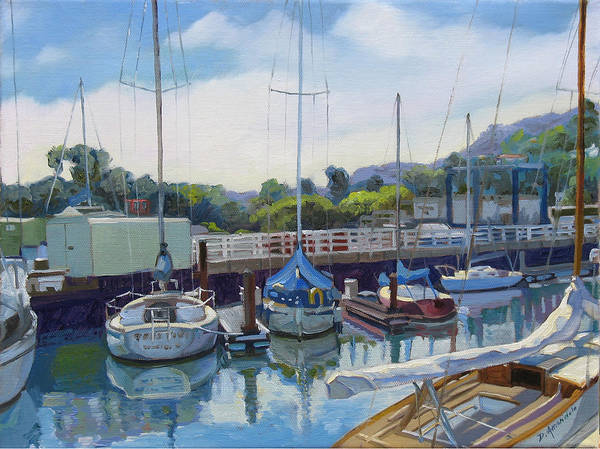 Sausalito Painting - Boats And Yachts by Dominique Amendola